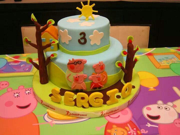 My  Years Old Boy Birthday Cake Peppa Pig George Cake FB - 3 birthday cake