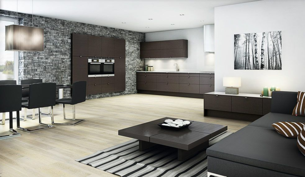 Excellent Norwegian Kitchen Design Inspiration Black And White Interior With Svelt Linear