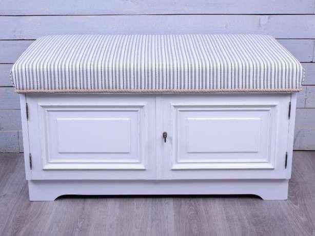 Szafka Na Buty Z Siedziskiem Biala Paski R167 Bielsko Biala Image 2 Storage Bench Furniture Home Decor