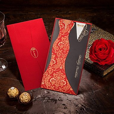 Chinese Style Clothing Wedding Invitations