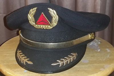 e3cdc860ff5 Delta airlines  pilot hat cap pin  badge  wings - premiere hat co.