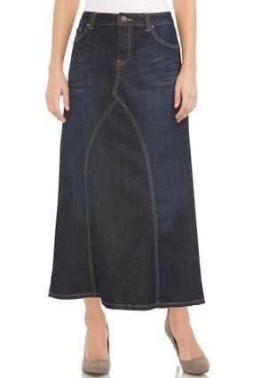 37969afec37b1 Cato Fashions V-Inset Maxi Denim Skirt  CatoFashions