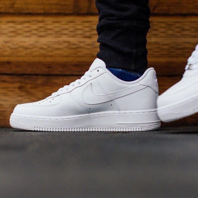 Nike Air Force 1 07: Pure White | Nike shoes air force, Nike ...