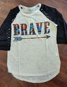 Brave Arrow Burnout Baseball Tee