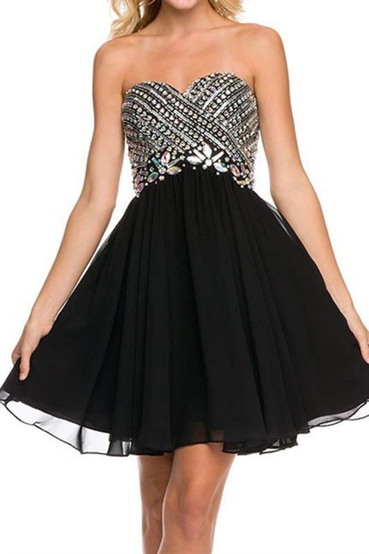 This Cute And Flirty Short Prom Dress Is Available In Black Mint