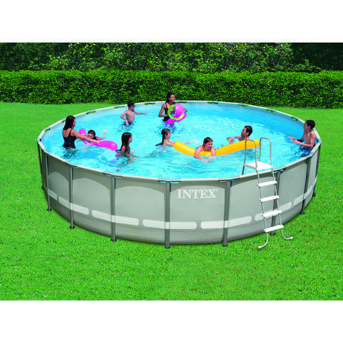 "INTEX® 20' x 48"" Round Ultra Frame Pool Set with 1,500Gal"