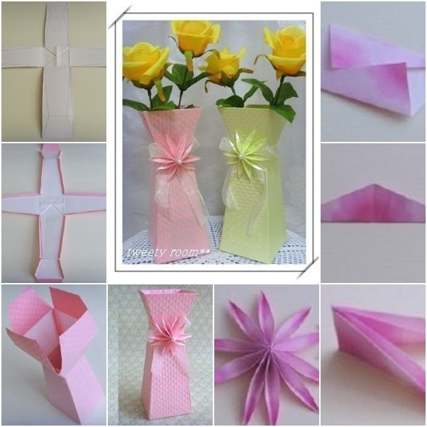 How To Make Beautiful Paper Flower Vase