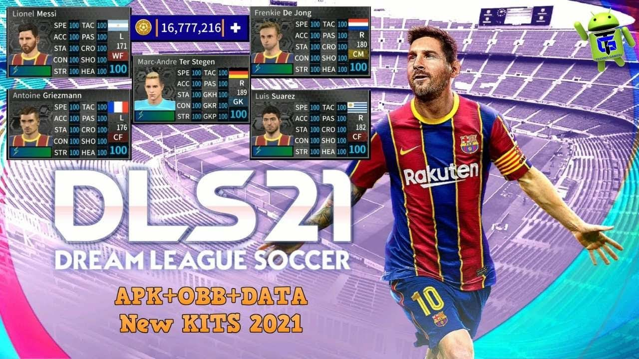 Dream League Soccer 2021 Apk Mod Data Barcelona Team Download In 2020 Barcelona Team Lionel Messi League