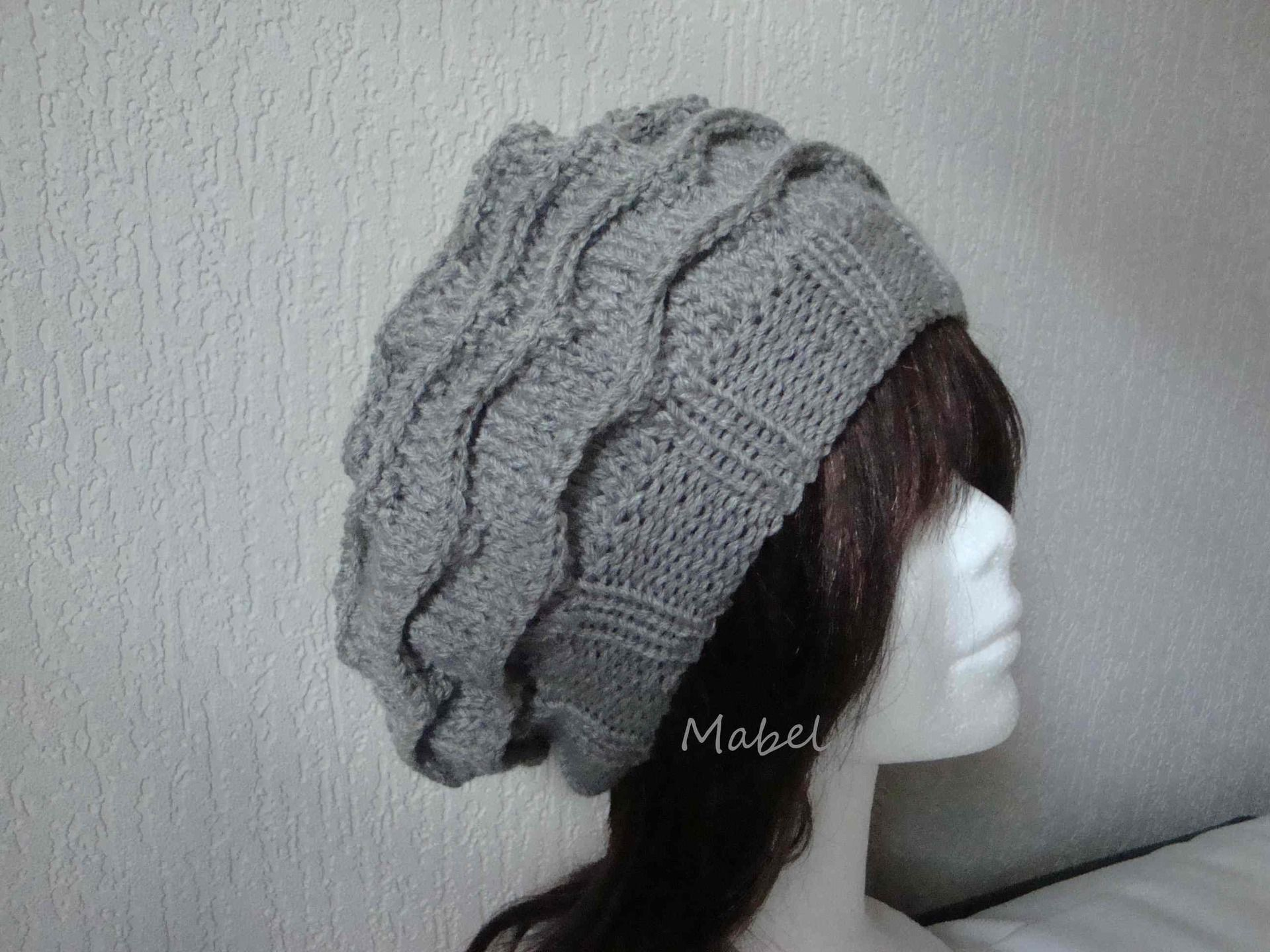modèle tricot bonnet beret   Knitting Patterns   Knitting, Tricot ... d8a6068e7f4