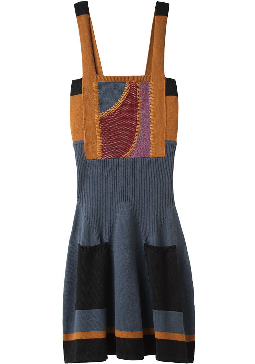 Proenza Schouler / Patchwork Knit Dress