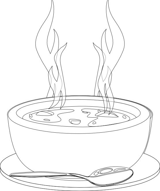 A Bowl Of Soup That Warms Coloring Pages Food Coloring Pages Kidsdrawing Free Coloring Pages Online Food Coloring Pages Coloring Pages Coloring For Kids