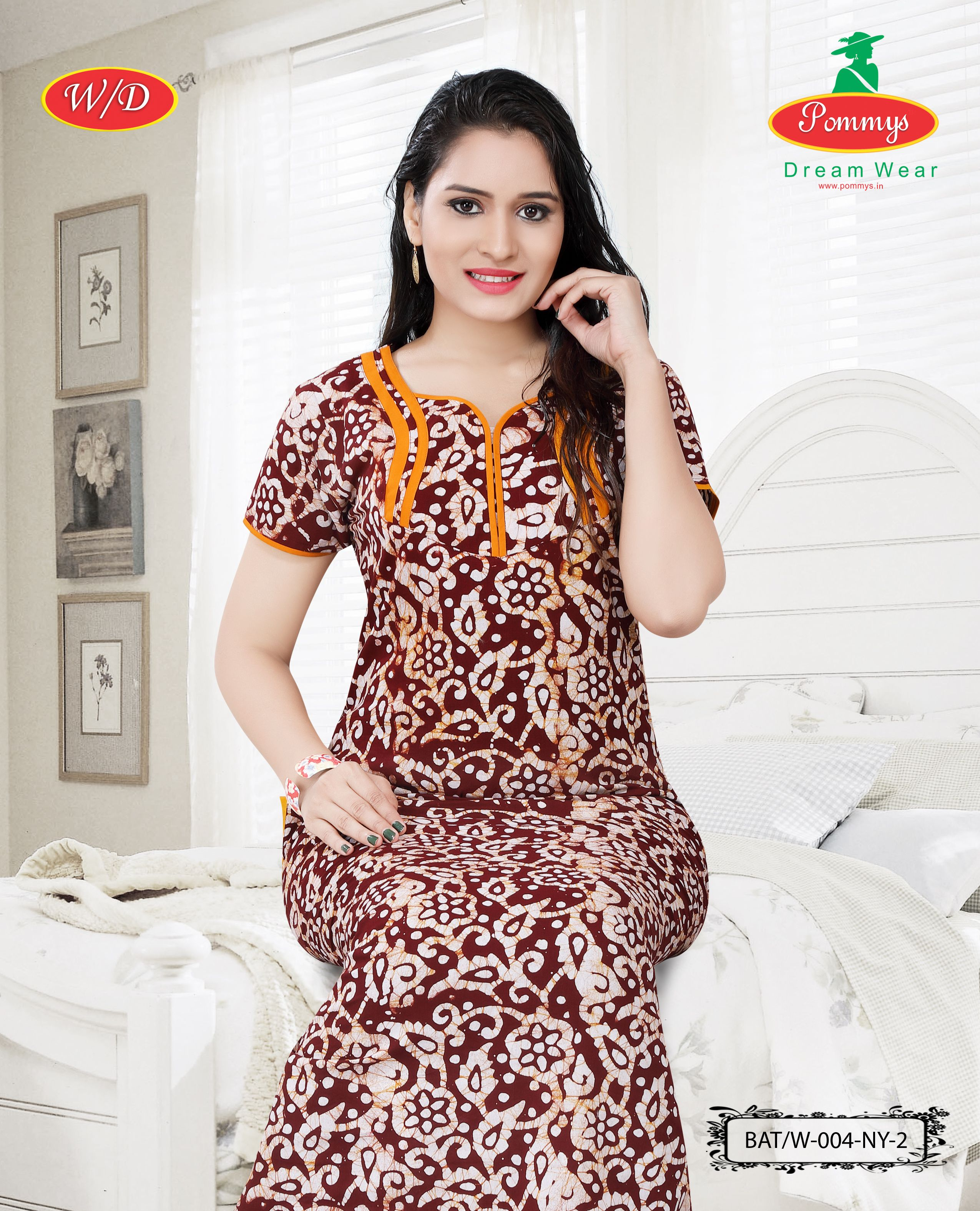 Beautiful Batik Printed Nighties Designed By Pommys For