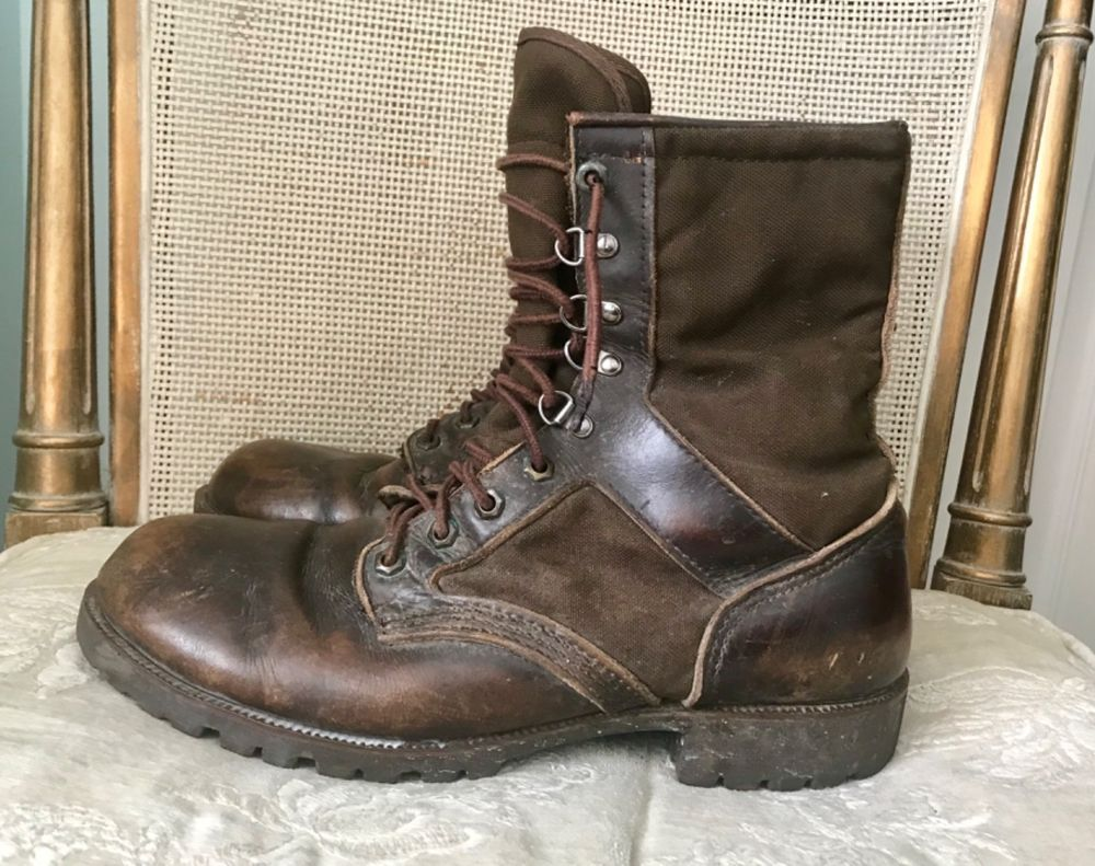 vtg northlake brown milita combat soft toe leather ankle on men s insulated coveralls cheap id=19330