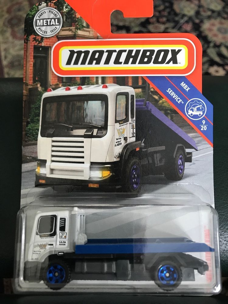 2018 Matchbox 33 MBX Blue Flatbed King Tow Truck Service