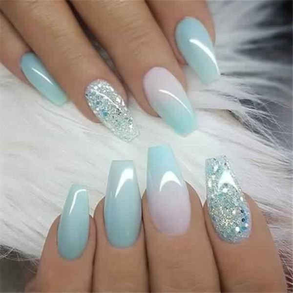 Nails from many decades have been an essential measurement of beauty and style. Now a days coffin nails are in style. These sometimes are also referred, as ballerina shaped nail, is a fashionable new look for manicures. If you are sick of plain round nails then you must try 9 Gorgeous short coffin nail designs given below... #nailsshape