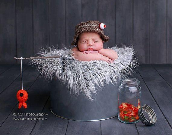 baby boy hatFisherman setnewborn photography photo prop