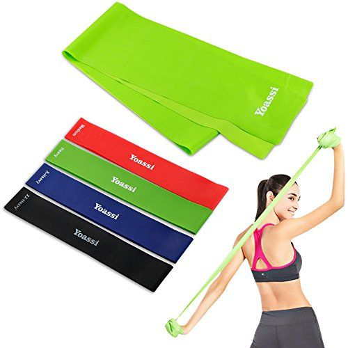 Useful Yoga Resistance Band Loop Pilates Strap Home Gym Fitness Exercise Workout