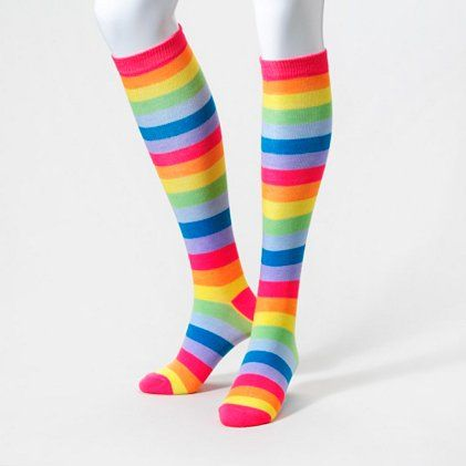 Day-Glow Knee Highs   Claire's