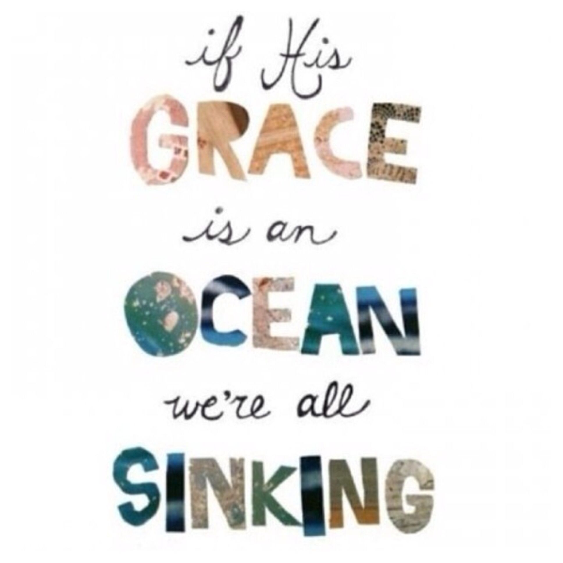 Sinking in his Grace