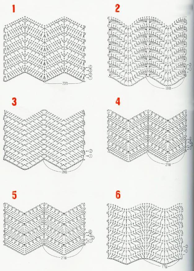 узоры зигзаг крючком | Идеи для шитья | Pinterest | Crochet, Crochet ...