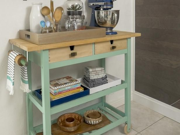 how to trick-out a rolling kitchen cart | buy kitchen, hgtv and