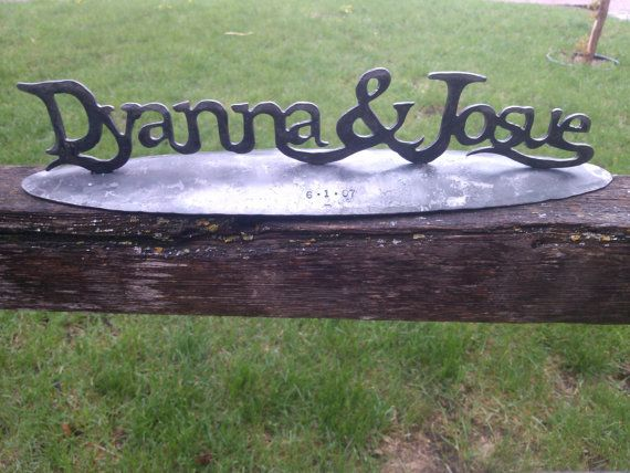 Your Names written in Iron personalized wedding gift, Family name ...