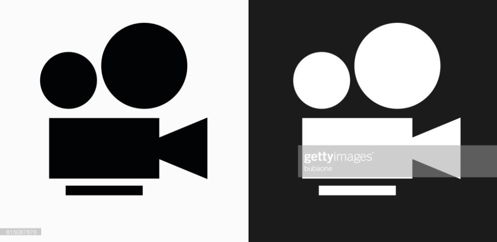 Film Camera Icon On Black And White Vector Backgrounds This Vector Camera Icon Vector Background White Camera