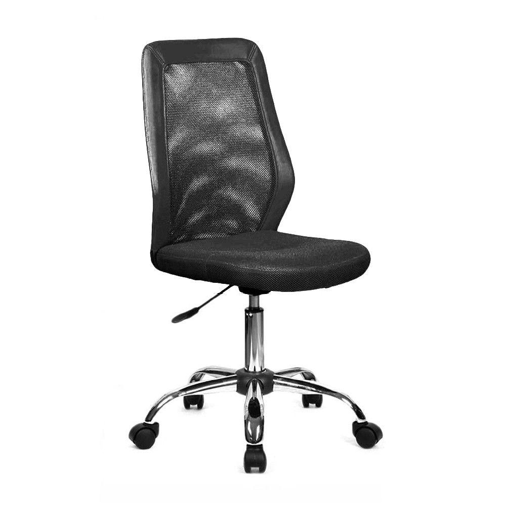 Sedia ufficio metallo nera regolabile ruote 11393 | Arredo Ufficio ...