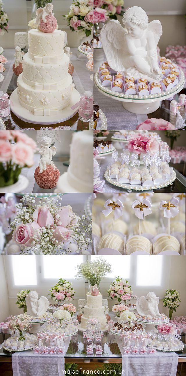Mesa de dulces bautizo ni a pasteles pinterest mesa for Mesa de dulces para bautizo de nina