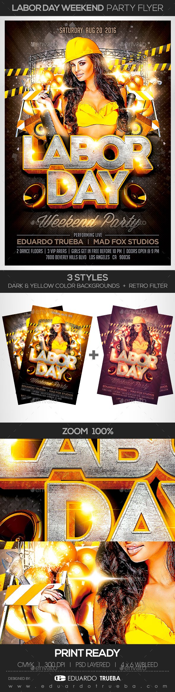 Labor Day Weekend Party Flyer | Party flyer, Flyer template and ...