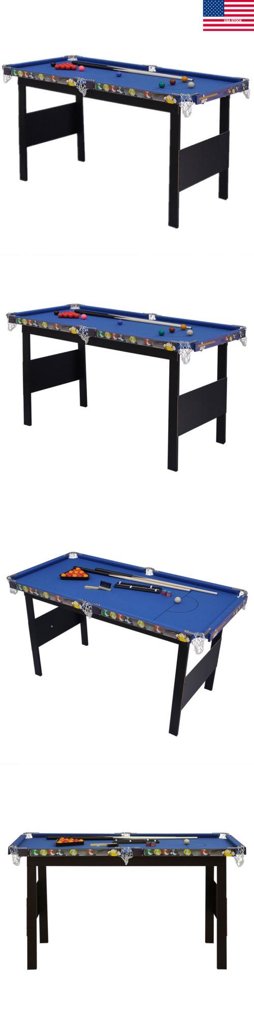 Tables 21213: 48 Portable Billiard Pool Table Top Indoor Game Balls Cues  Board Billiards Set