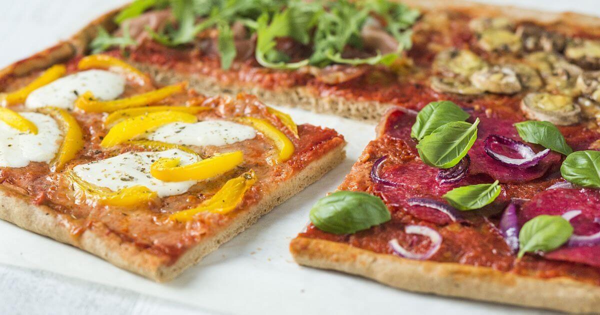 recept volkoren pizza quattro stagioni  recept  pizza