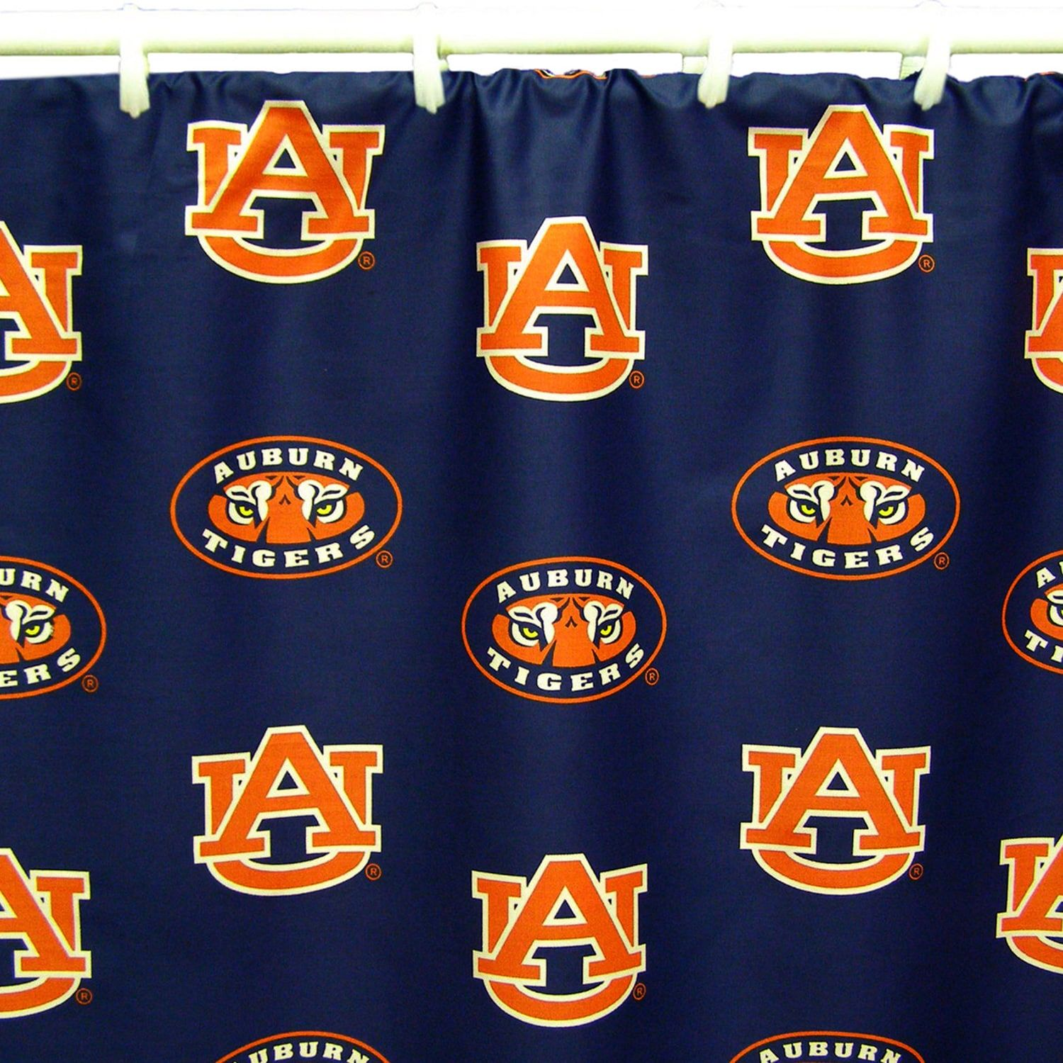 College Covers Auburn Tigers Printed Shower Curtain Cover Auburn