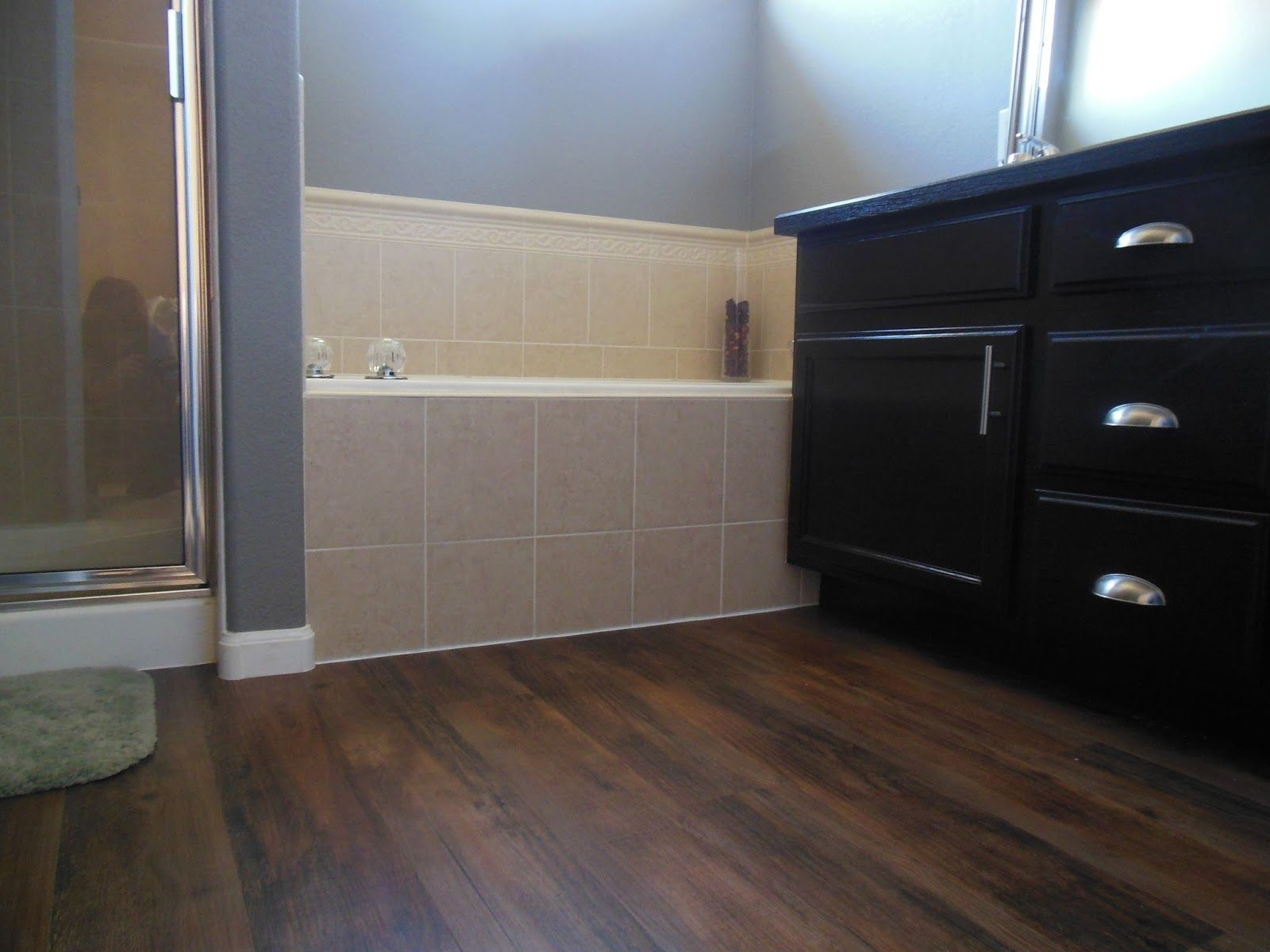 dark wood tile flooring Google Search Vinyl flooring
