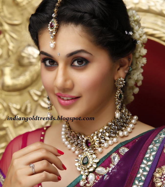 Wedding Hairstyle Jura: Latest Indian Gold And Diamond Jewellery Designs: Bridal