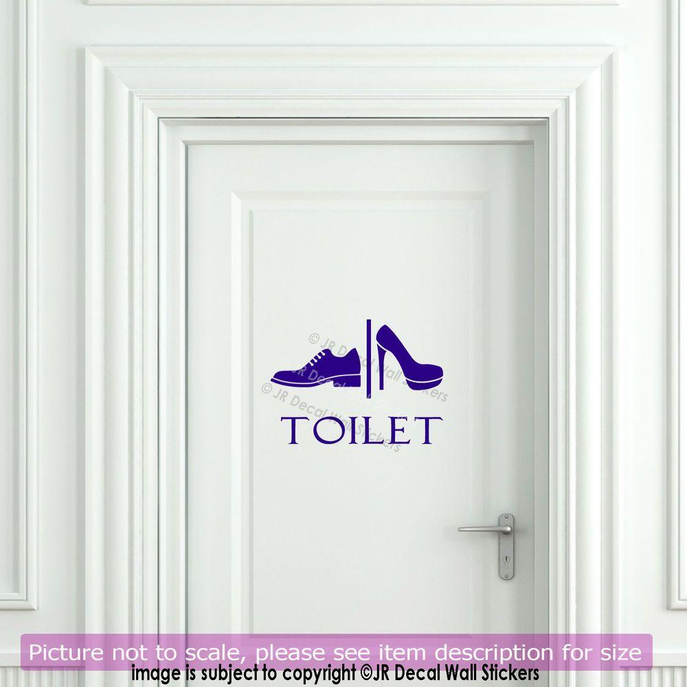Funny toilet entrance sign removable vinyl wall sticker bathroom art