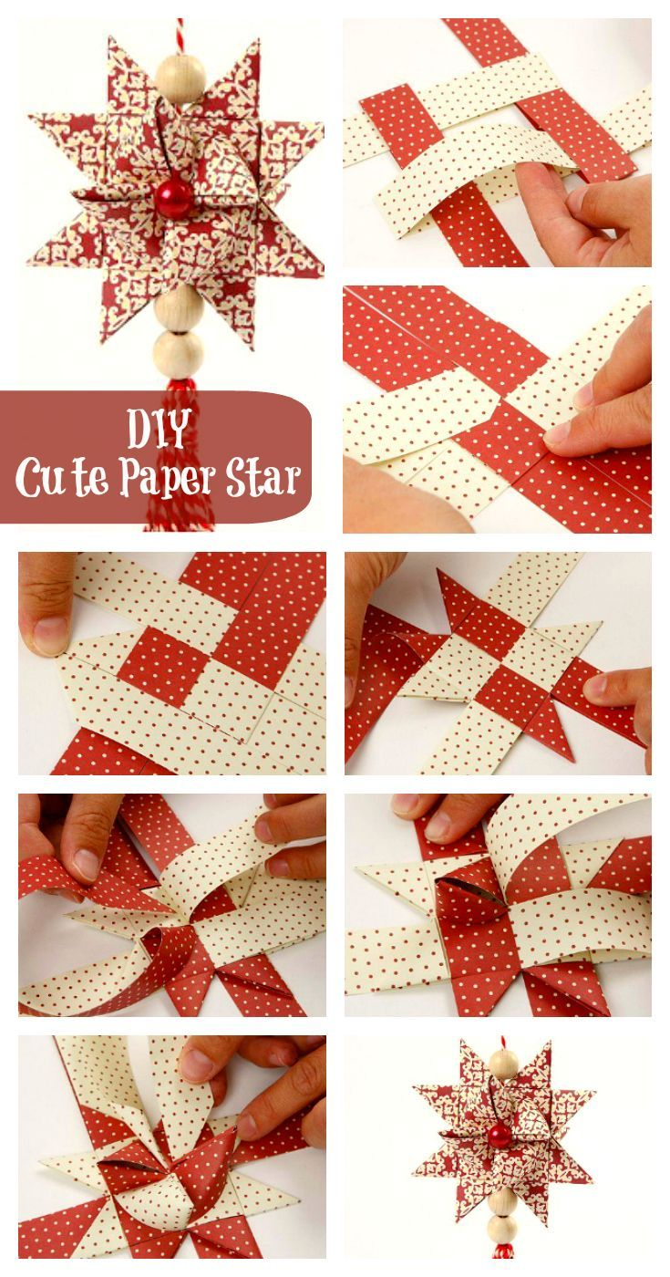 DIY Cute Paper Star - I\'ve always wanted to know how to make these ...