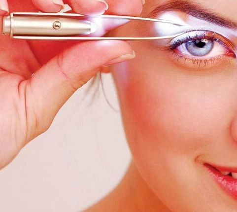 LED Light Eyebrow Hair Removal Tweezers
