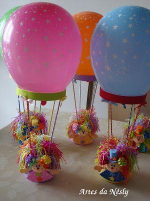 Manualidades e ideas para tus fiestas infantiles Centros de mesa