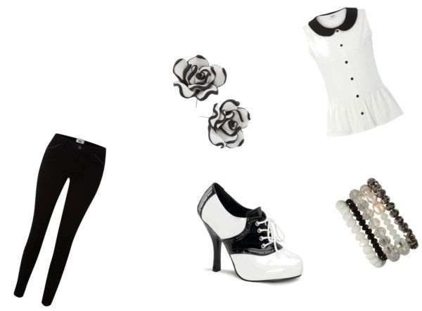 """Black and White"" by mrsharriettstyles ❤ liked on Polyvore"