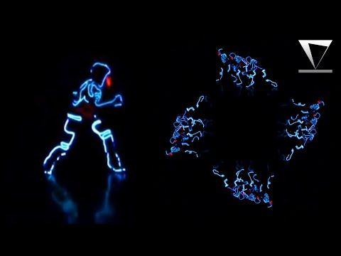 hologram video template  Tron - Dance - Hologram Video for Holographic Pyramid - Screen Up ...