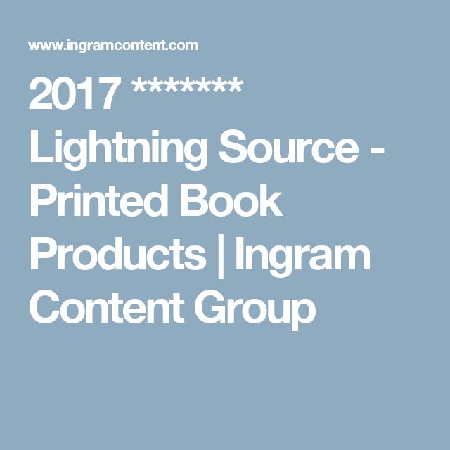 2017 lightning source printed book products ingram