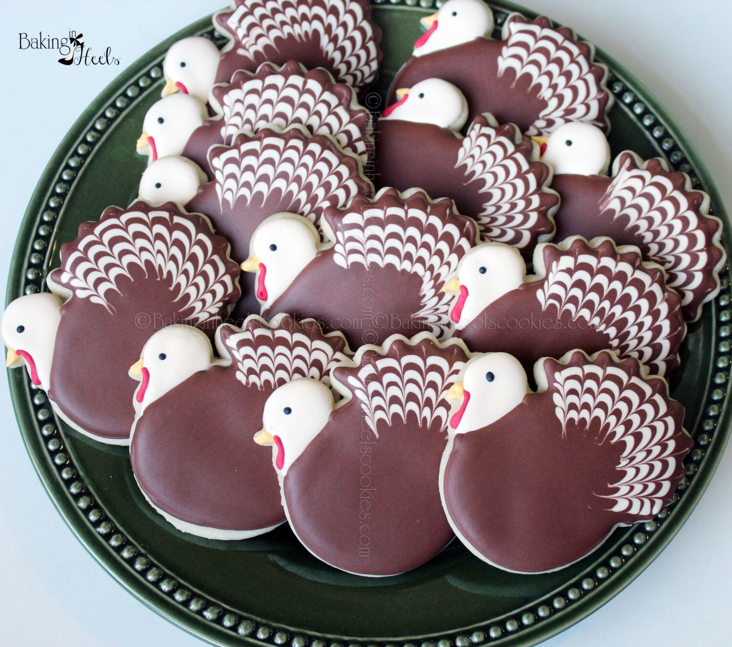 Thanksgiving Turkey Decorated Cookie Favors, Fall Cookies