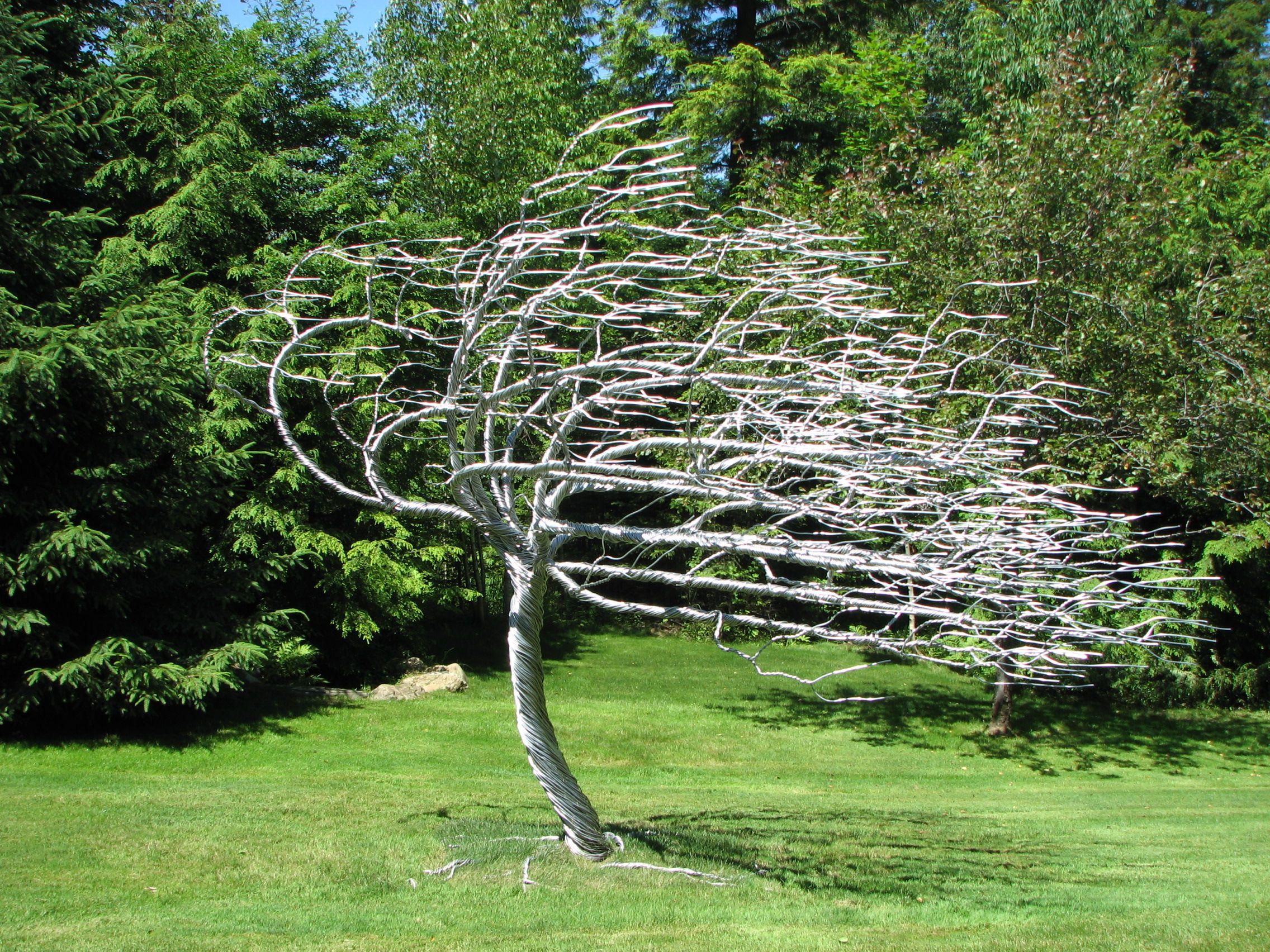 Amazing Trees Tree Sculpture Randy Adams Silver Wood