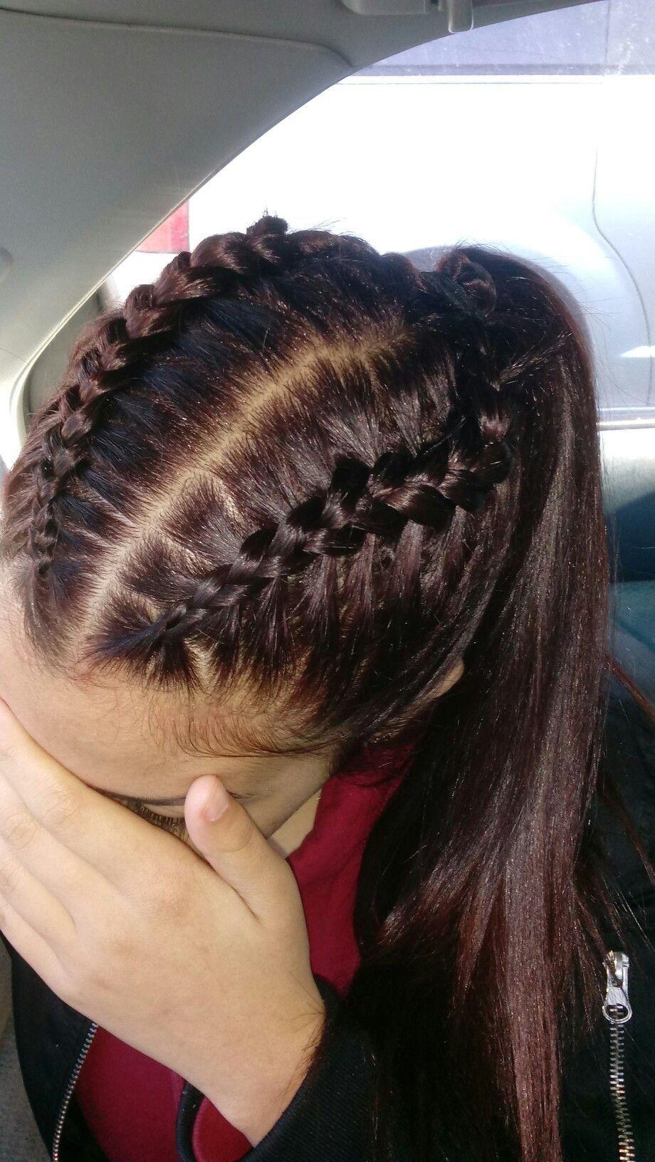 Hair Goals Aestheticme Hair Styles Cheerleading Hairstyles Braided Ponytail Hairstyles