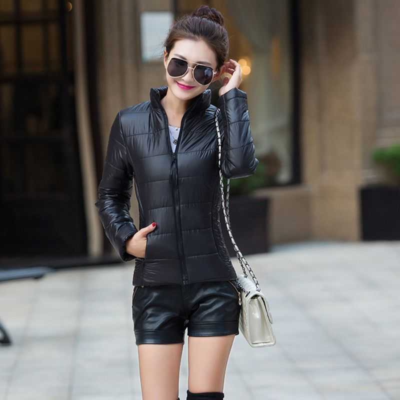 NEW Women Coat Fashion Autumn Winter Women Jacket Female Parkas Cotton Casual Basic Jackets Wadded