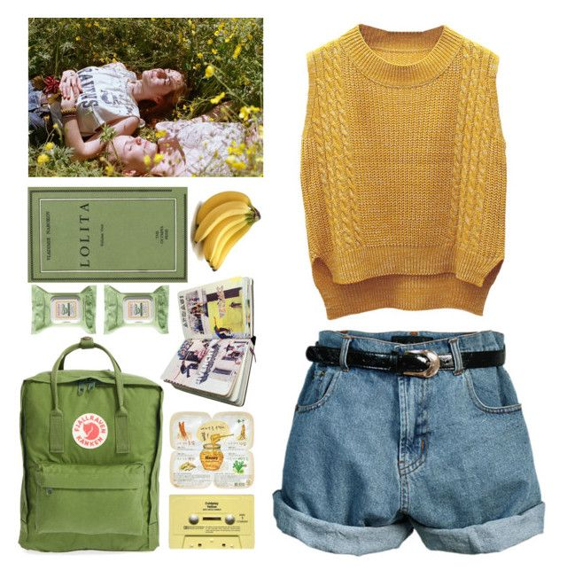 """Yellow ☀️ green "" by annasrgvalim on Polyvore featuring мода, Retrò, Fjällräven, Burt's Bees, WithChic и CASSETTE"