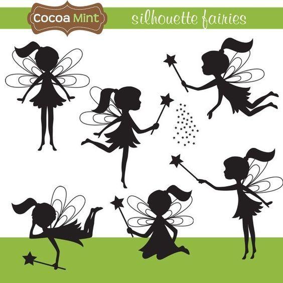 Silhouette Fairies: | Силуэт феи, Искусство силуэта, Раскраски