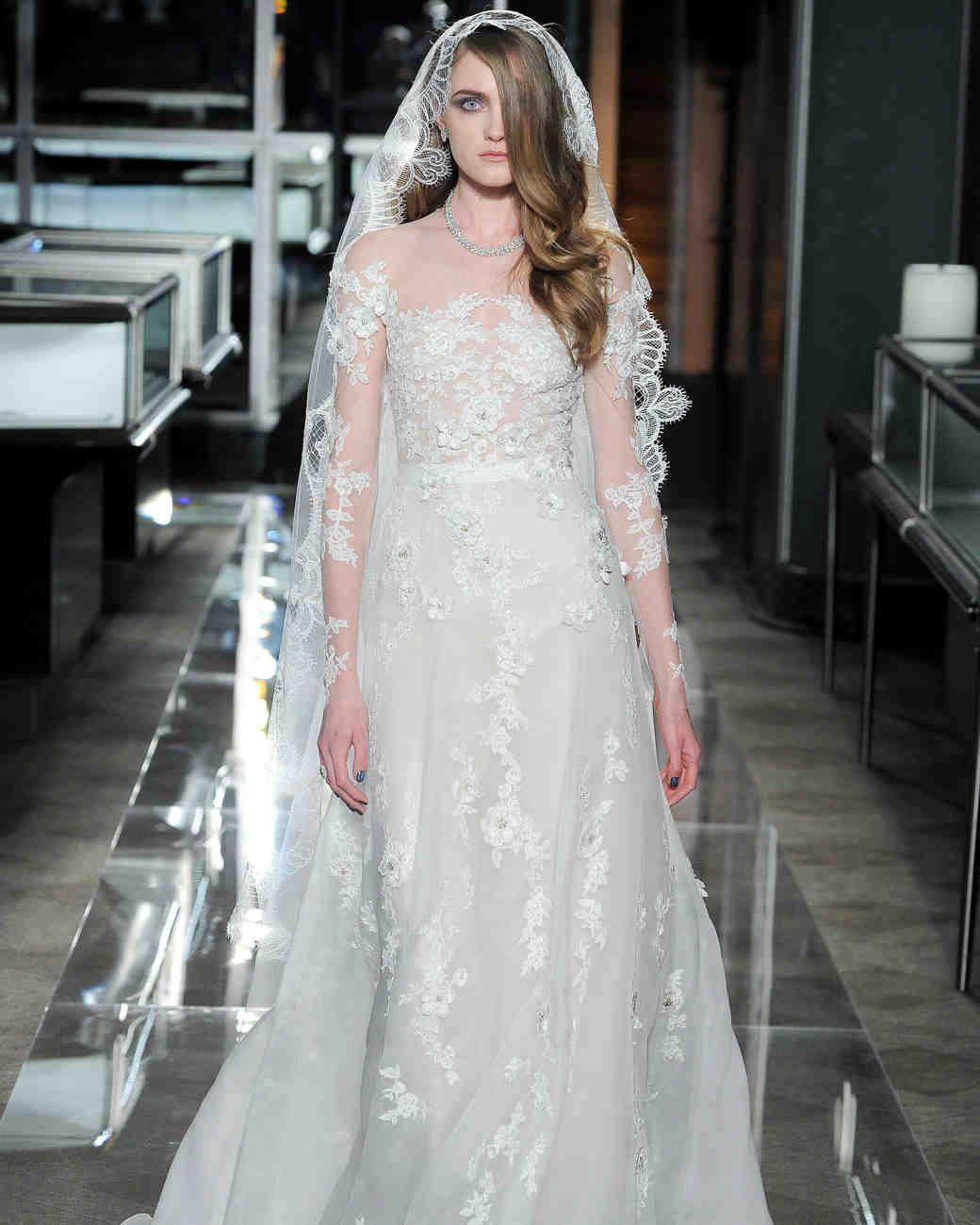 Reem Acra Spring 2018 Wedding Dress Collection | Martha Stewart ...