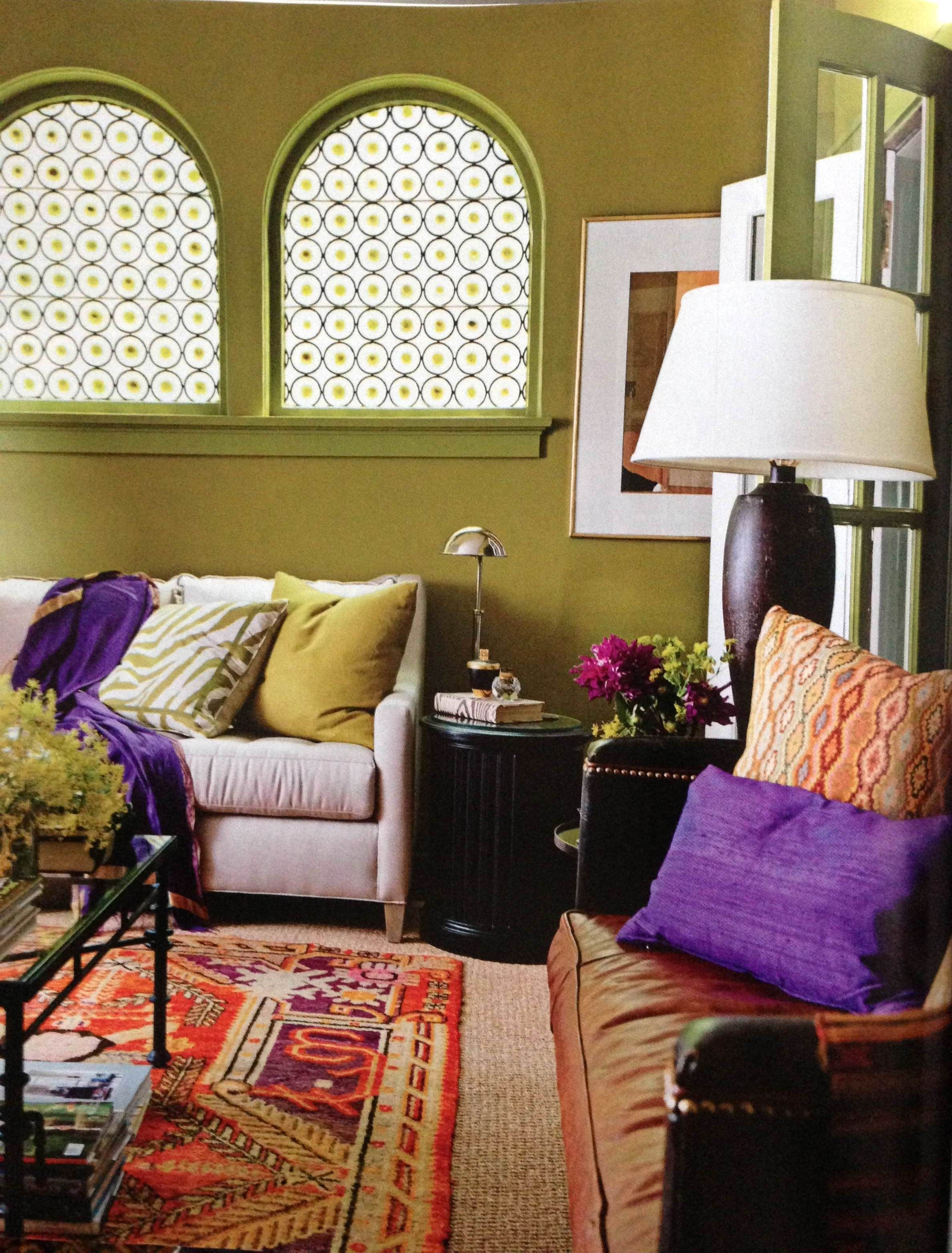 Living Room Design Green: Bohemian Style Living Room, Living Room Green